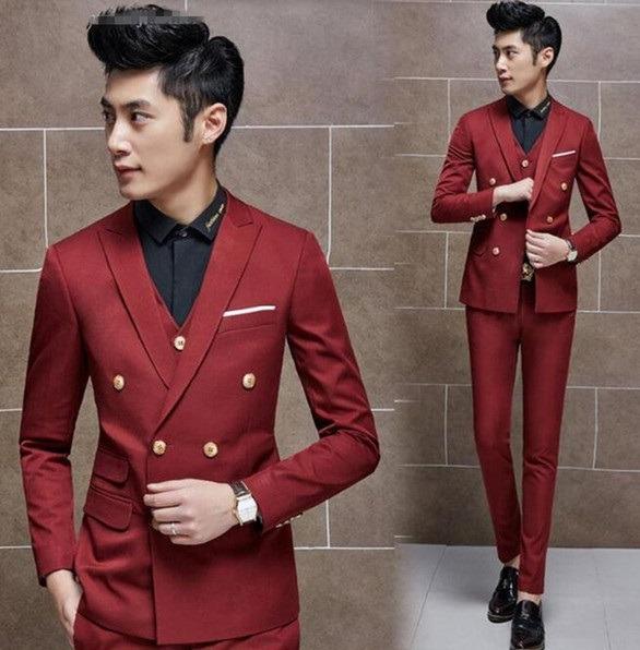 کت و شلوار قرمز رنگ مردانه