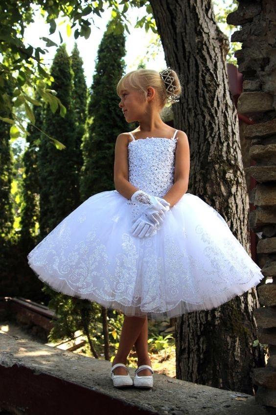 لباس عروس بچه گانه با دستکش