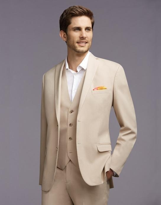 طرح کرم رنگ پوشش مردانه دو دکمه