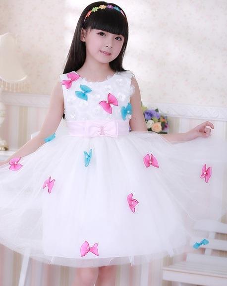 لباس عروس بچه گانه پاپیونی
