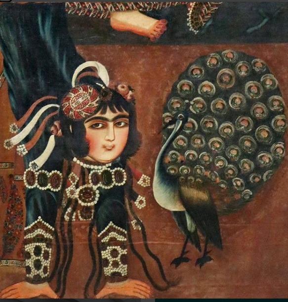 بانوی آکروبات باز قاجاری در موزه لوور