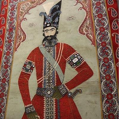 پرتره ناصر الدین شاه قاجار در موزه لوور
