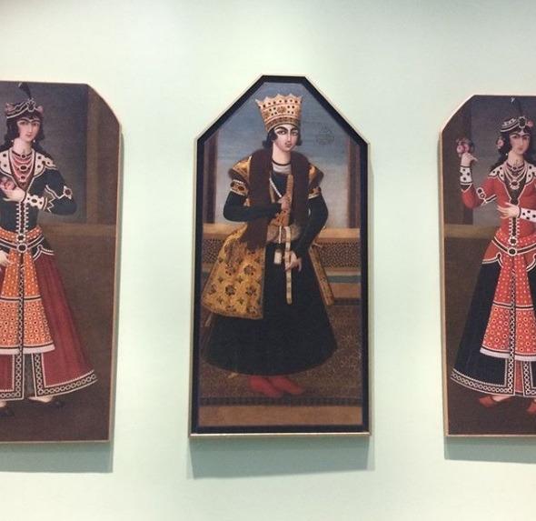 مد ایرانی به روایت قجری در موزه لوور