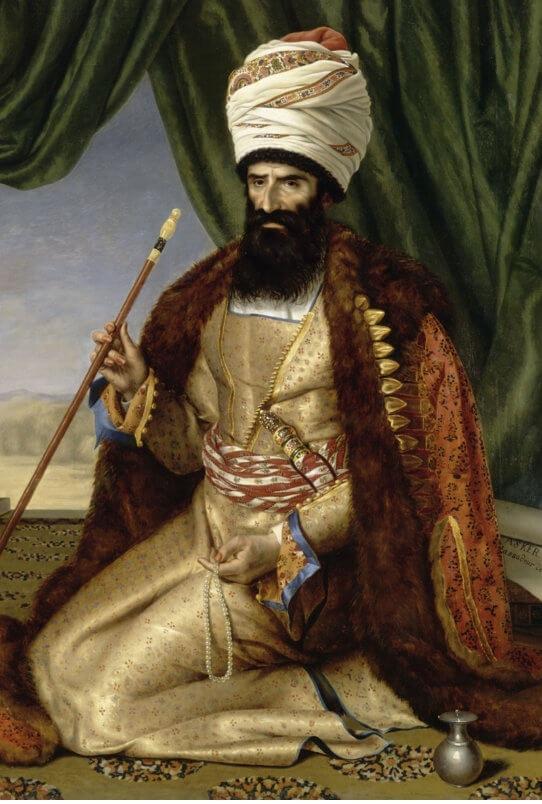 نقاشی رنگ روغن پرتره عسگر خان در موزه لوور
