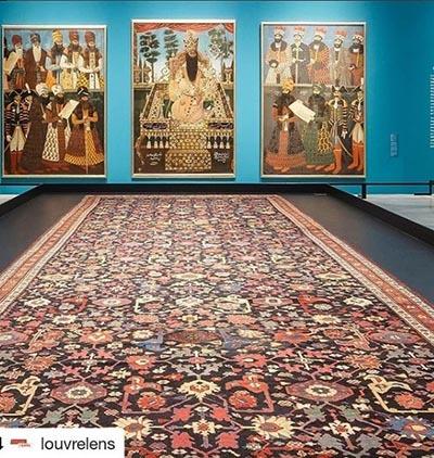 نقاشی های فاخر عصر قجری که در نمایشگاه لوور-لارنس