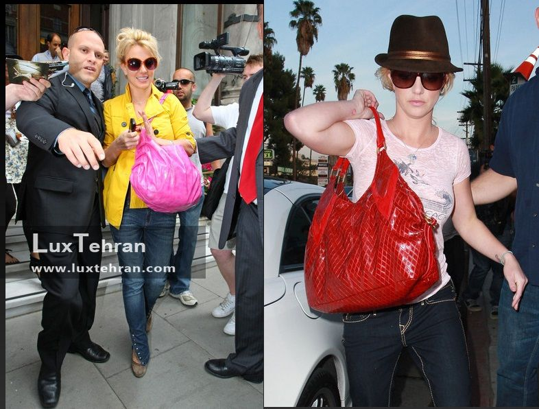 علاقه خاص بریتنی اسپیرز به کیف های رو دوشی رنگارنگ