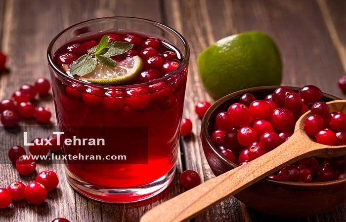 درمان دهیدراته با آب میوه کران بری