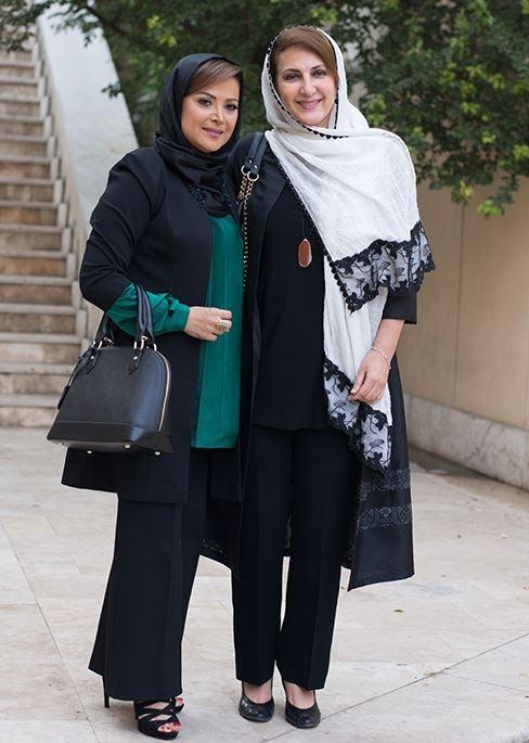 فاطمه گودرزی در کنار کمند امیر سلیمانی مدل مانتو مجلسی تابستانی