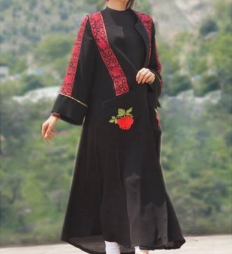 مدلی نخی با گلدوزی های قرمز و جذاب