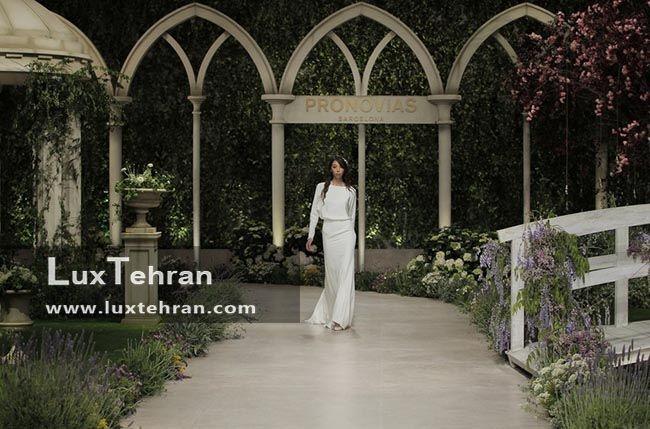 مدل لباس عروس 2018 آستین بلند پوشیده