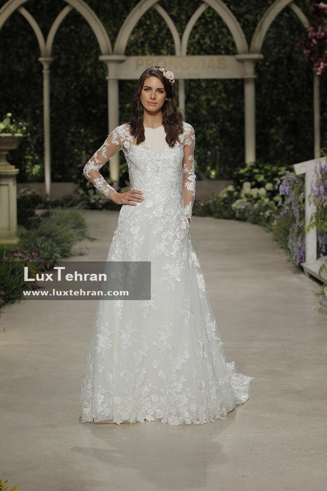 لباس عروس 2018 پرونوویاس آستین دار