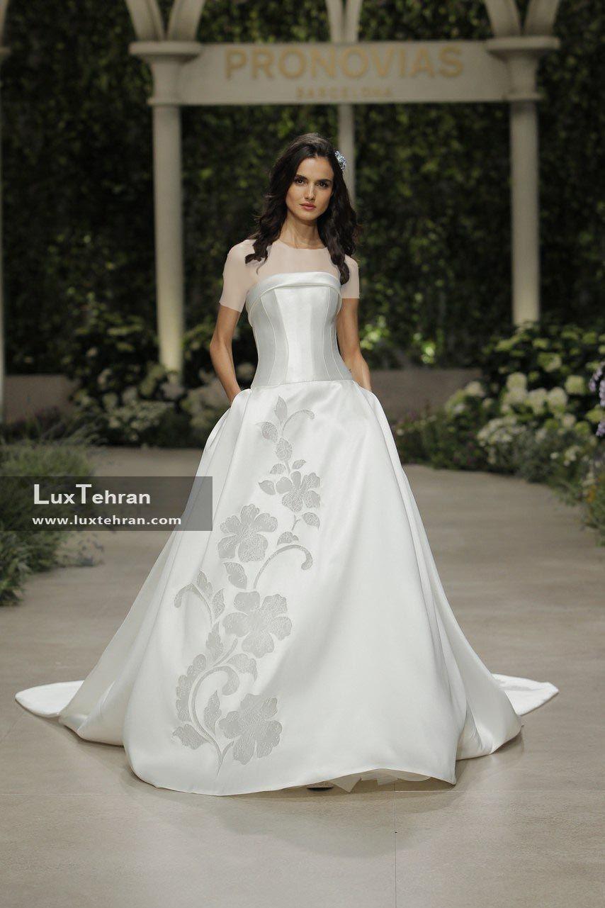 لباس عروس 2018 بدون بند شانه و بدون آستین