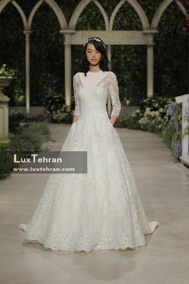 لباس عروس 2018 یقه V