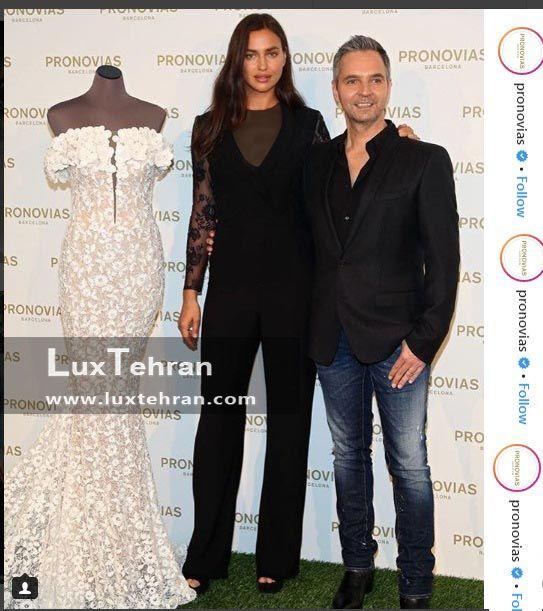 مدل معروف روس با لباس یکسره مشکی