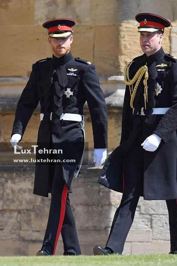 (لباس رسمی پرنس ویلیام، همسر کیت میدلتون و پرنس هری در مراسم)