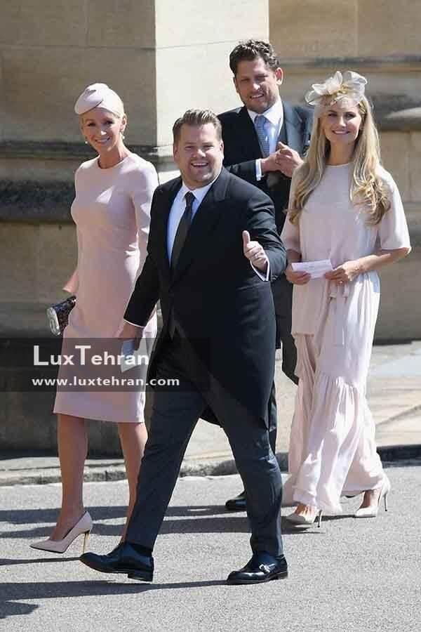 (لباس یکی دیگر از مهمانان مراسم عروسی مگان مارکل و هری: JUIA CAREY و JAMES CORDEN)
