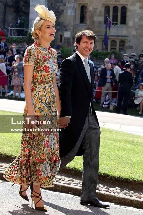 (لباس JAMES BLUNT و همسرش SOFIA WELLESLEY )