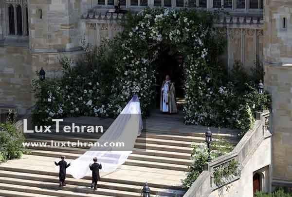 لحظه ورود مگان مارکل به کلیسا سنت جورج