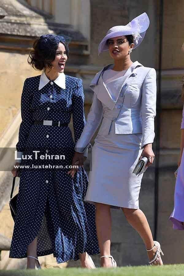 (لباس ABIGALI SPENCER و PIYANKA CHOPRA در مراسم عروسی که طرح هایی کاملا متفاوت است)
