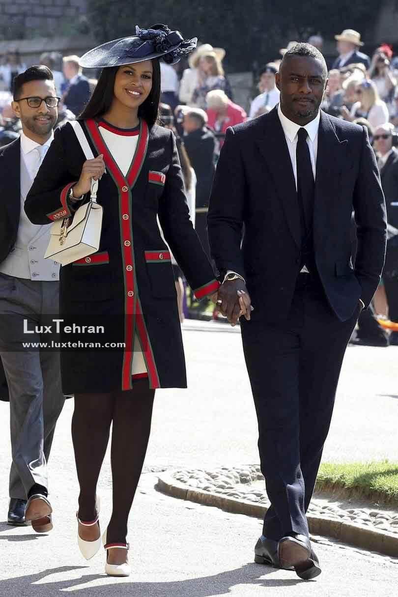 (تصویری از لباس IDRIS ELBA و همسرش SABRINA DHOWRE)