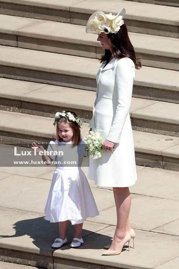 لباس کیت میدلتون در مراسم عروسی هری و مگان مارکل