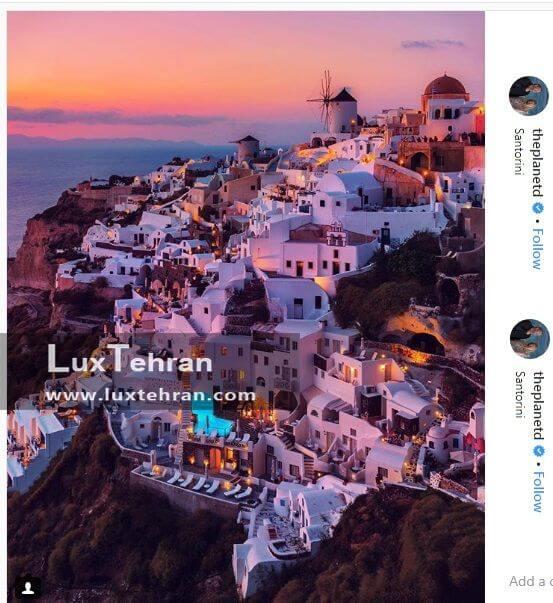 گردشگری توریسم بلاگر معروف به منطقه سانتورینی در یونان