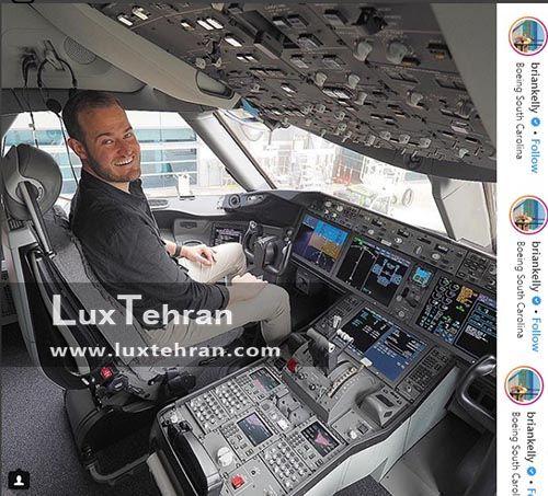 برایان توریسم بلاگر معروف در هواپیما