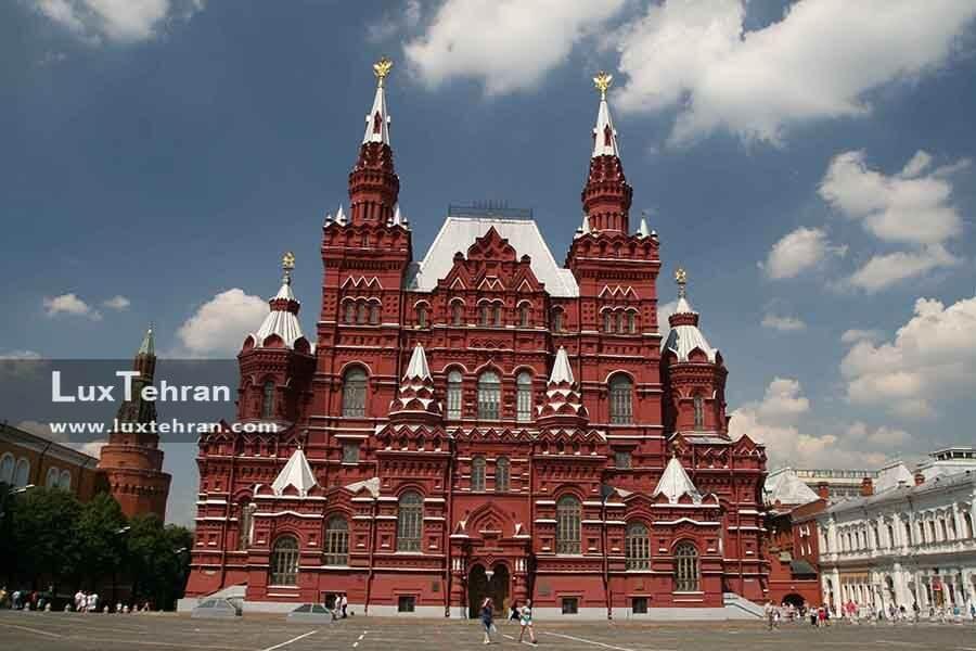 (نمای ساختمان موزه ملی مسکو)