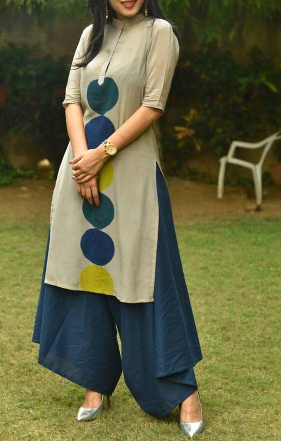 مدل مانتو تابستانی نخی به سبک زیبای پاکستانی و هندی