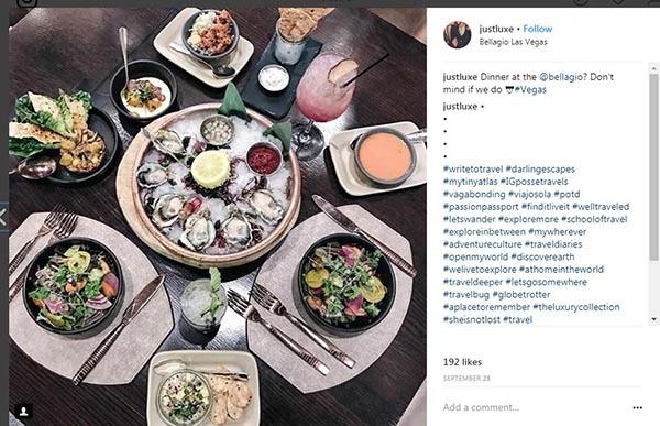 تصویر یکی از پست های جاست لوکس که شما را با رستوران هایی در امریکا برای تناول غذاهای گران و خاص آشنا می کند