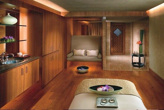 طراحی محل اسپا و استفاده از رنگ هایی با تناژ گرم و ملایم