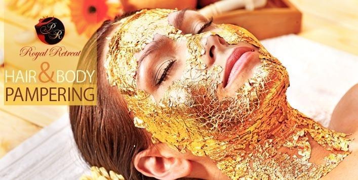 خدمات لایه برداری پوست با ورق های طلا ۱۸ عیار در مراکز اسپا دوبی