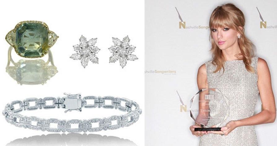 مجموعه جواهرات تیلور سویفت، سرویس جواهرات الماس ایشان را که برند NORMAN SILVERMAN