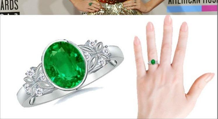 جعبه جواهرات تیلور سویفت، شاهد حلقه ای زمرد ۳۰۰ هزار دلاری هستیم