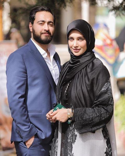 تصویر آناشید حسینی در کنار همسرش پسر سفیر ایران در اینستاگرام
