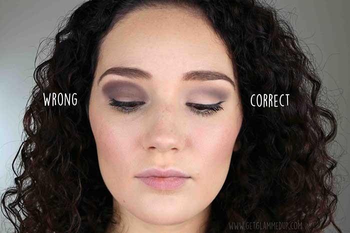 ترکیبات اشتباه در سایه زدن  اشتباهات آرایشی