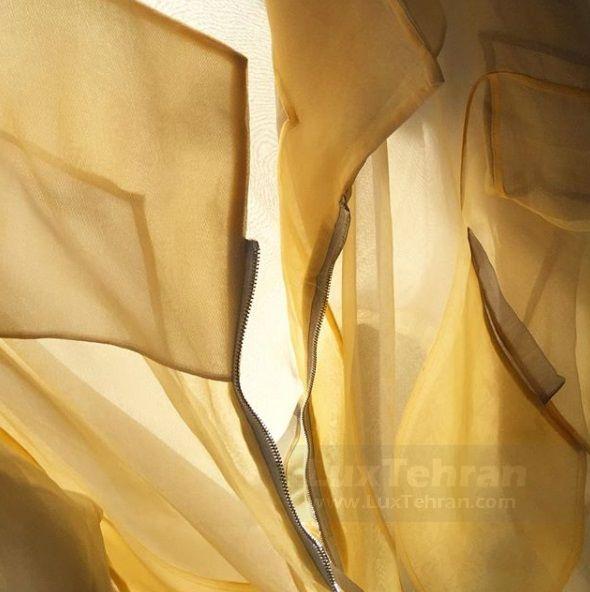طرح دوخت پارچه هایی گلناز آشتیانی در طراحی لباس
