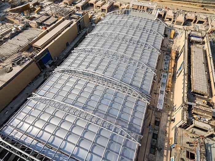 وشش سقف بزرگ باغ ایرانی ایران مال