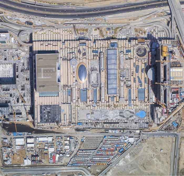 تصویری هوایی از ایران مال