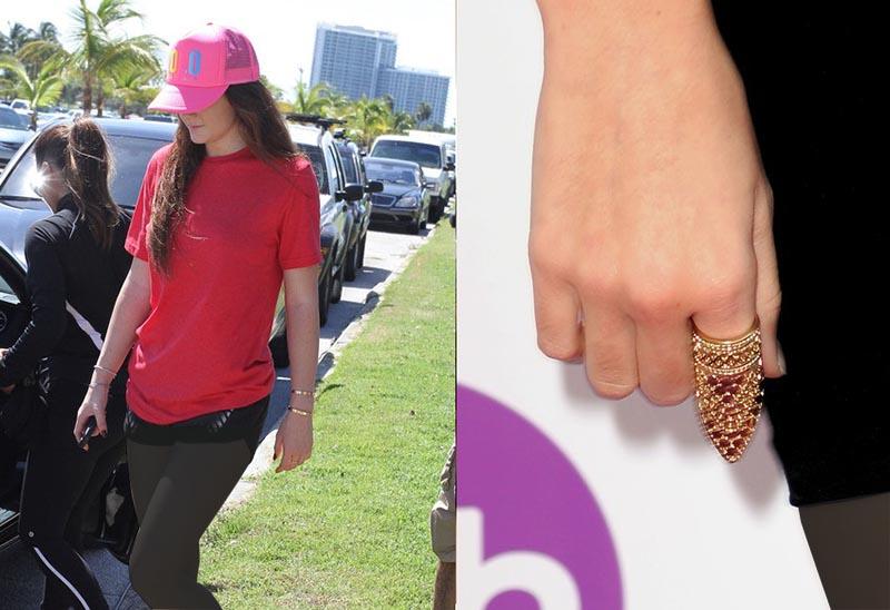 دستبند و رینگ های جذابی که بخشی از انگشت را پوشش می دهد