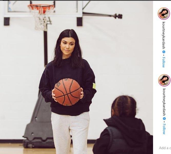 کورتنی کارداشیان عاشق بسکتبال است