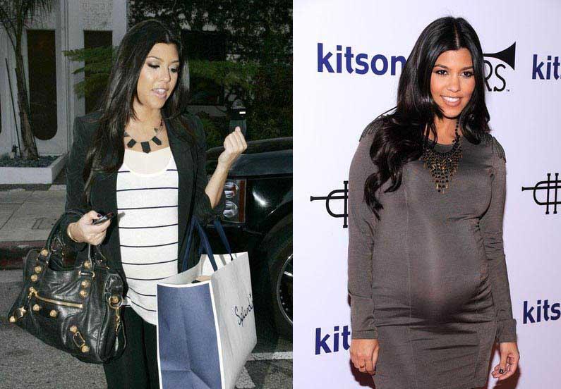 کورتنی کارداشیان را با لباس های حاملگی