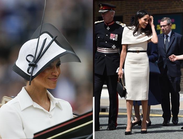 عروس مسن خاندان سلطنتی انگلیس را با لباس رسمی سفید رنگ بلند با طرح خاص از برند ژیوانشی