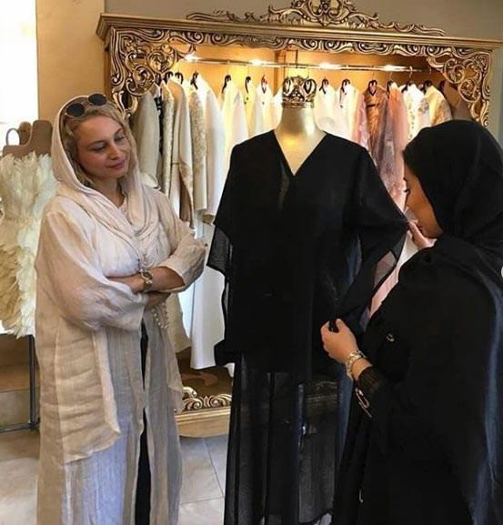 مریم کاویانی، هنرپیشه سینما و تلویزیون کشورمان در خانه مد ایران زمین (خرداد ۹۷)