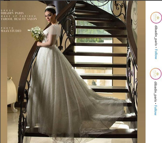 طراح گریم این عروس جذاب: ترگل بیوتی سالن است