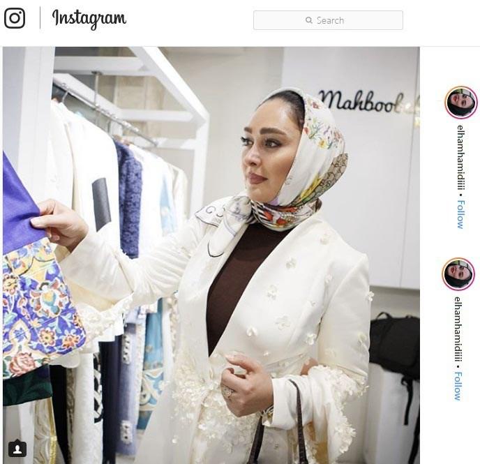 الهام حمیدی هنرپیشه سینما وتلویزیون از مشتریان برند محبوبه بلندی در طبقه دوم پالادیوم است