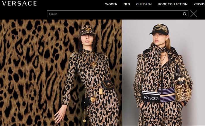 طراحی لباس و دکوراسیون برند ایتالیایی لاکچری ورساچه