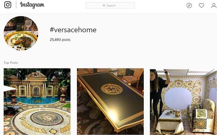 طرح های دکوراسیون خانگی ورساچه اینستاگرام