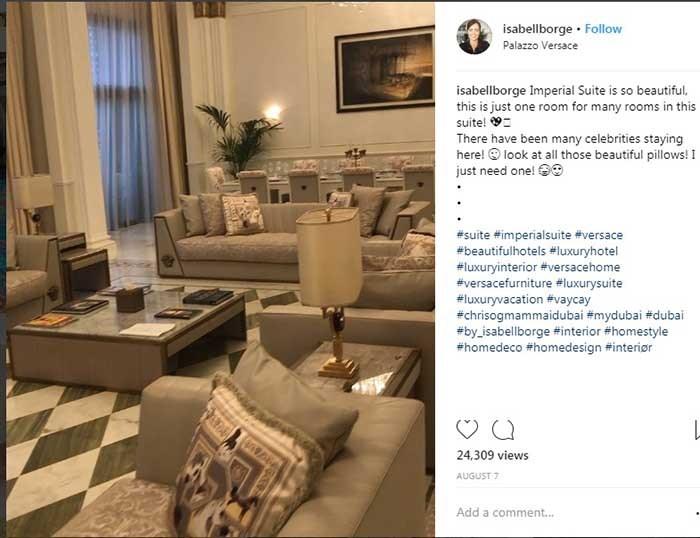 امپریال سویت در یک هتل مجلل دوبی