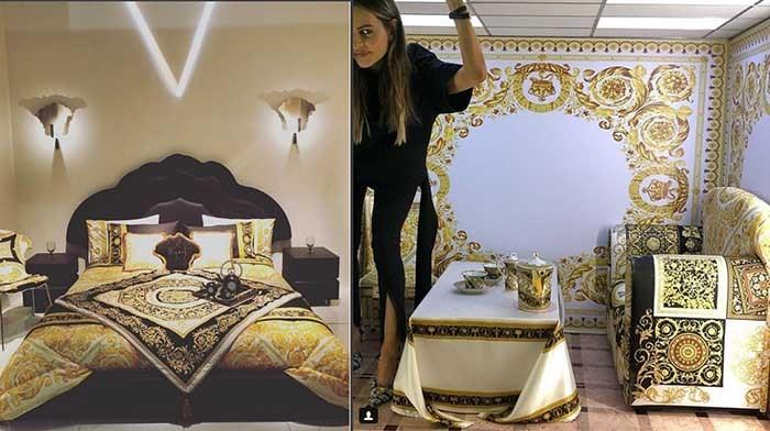 طرحی از اتاق خواب و اتاق نشیمن که توسط ورساچه طراحی شده است